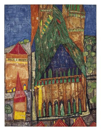 104 Cathedral I - Friedensreich Hundertwasser