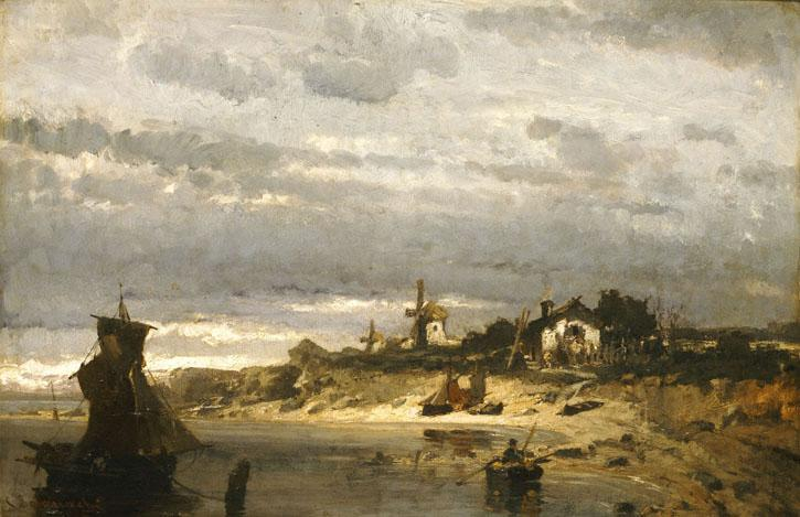 Village on a Dutch Coast - Konstantinos Volanakis