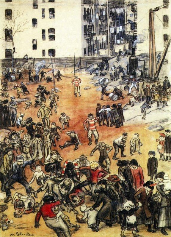 1911 For the Championship of the Backlot League - William James Glackens