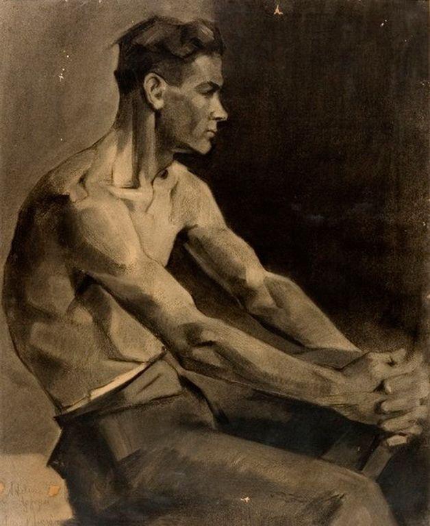 Drawing of a man - Nikos Nikolaou