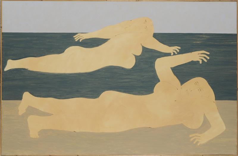 Nude on the beach  - Nikos Nikolaou