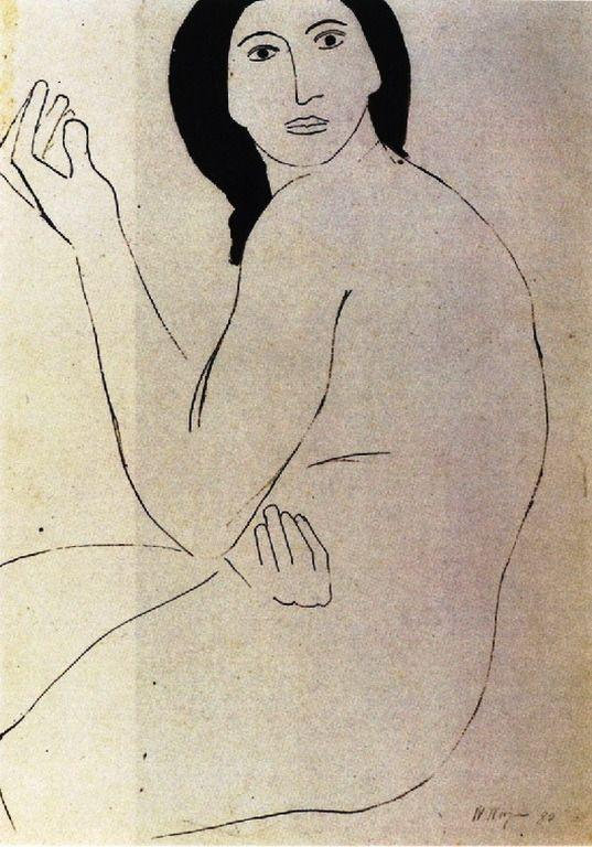 Drawing of a woman - Nikos Nikolaou