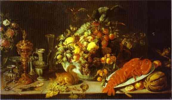 A Banquet Piece - Frans Snyders