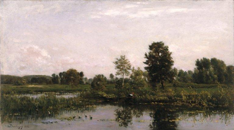 A Bend in the River Oise - Charles-Francois Daubigny