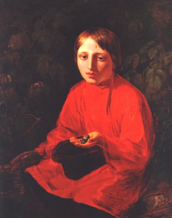 A Boy in a Red Shirt - Alexey Venetsianov
