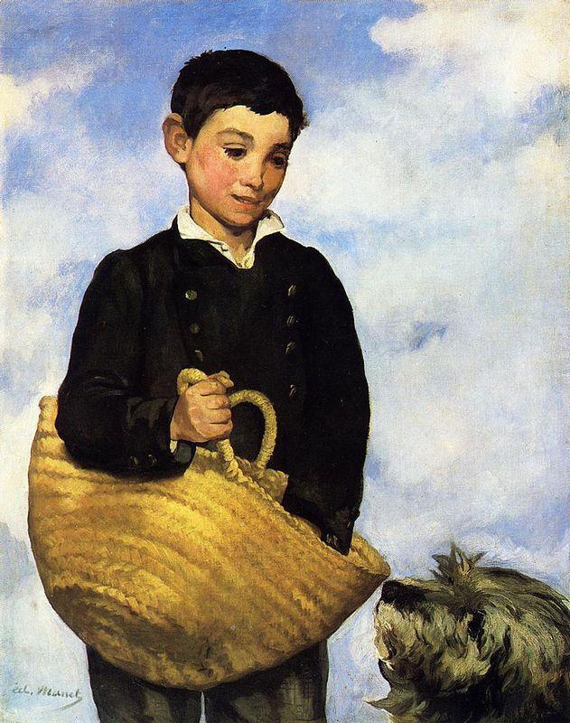 A boy with a dog - Edouard Manet