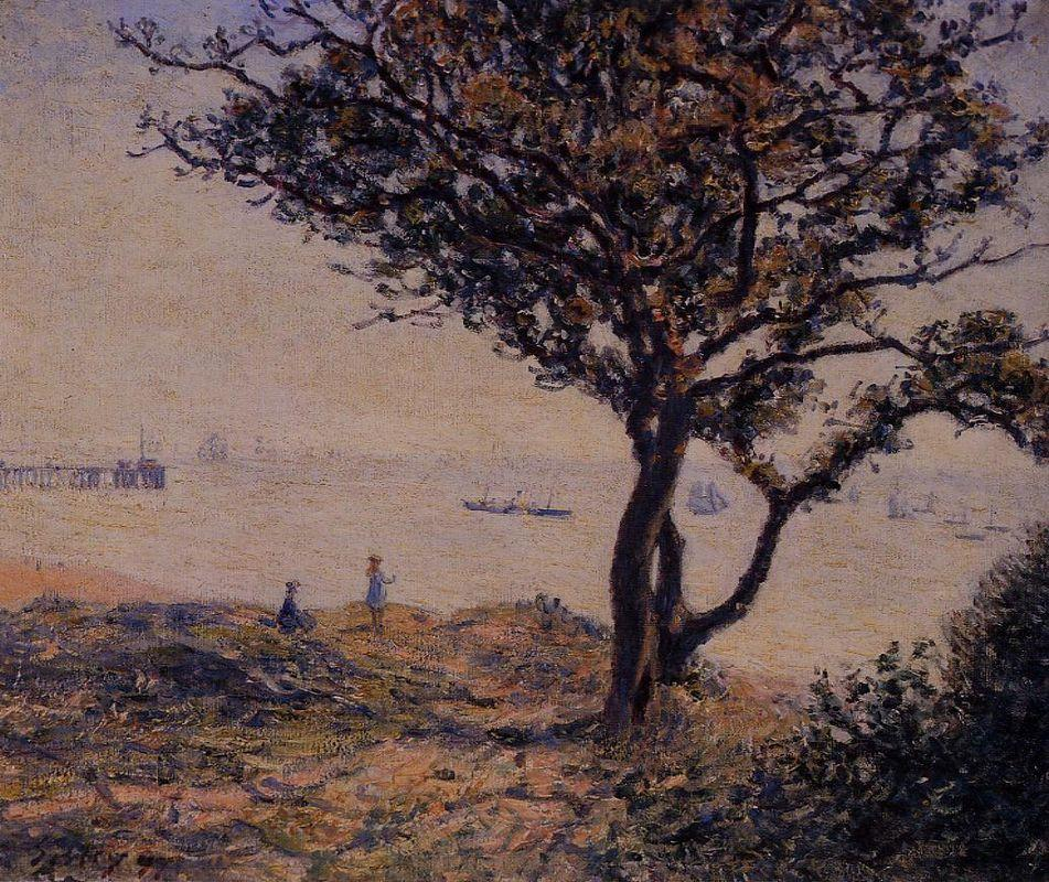 A Cardiff Shipping Lane - Alfred Sisley