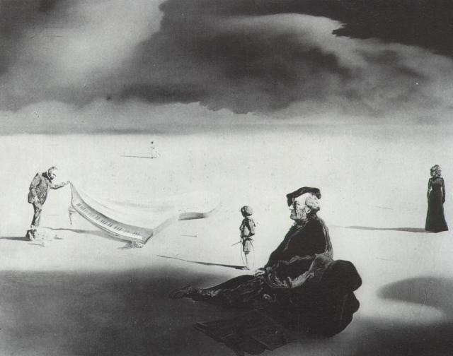 A Chemist Lifting with Extreme Precaution the Cuticle of a Grand Piano - Salvador Dali