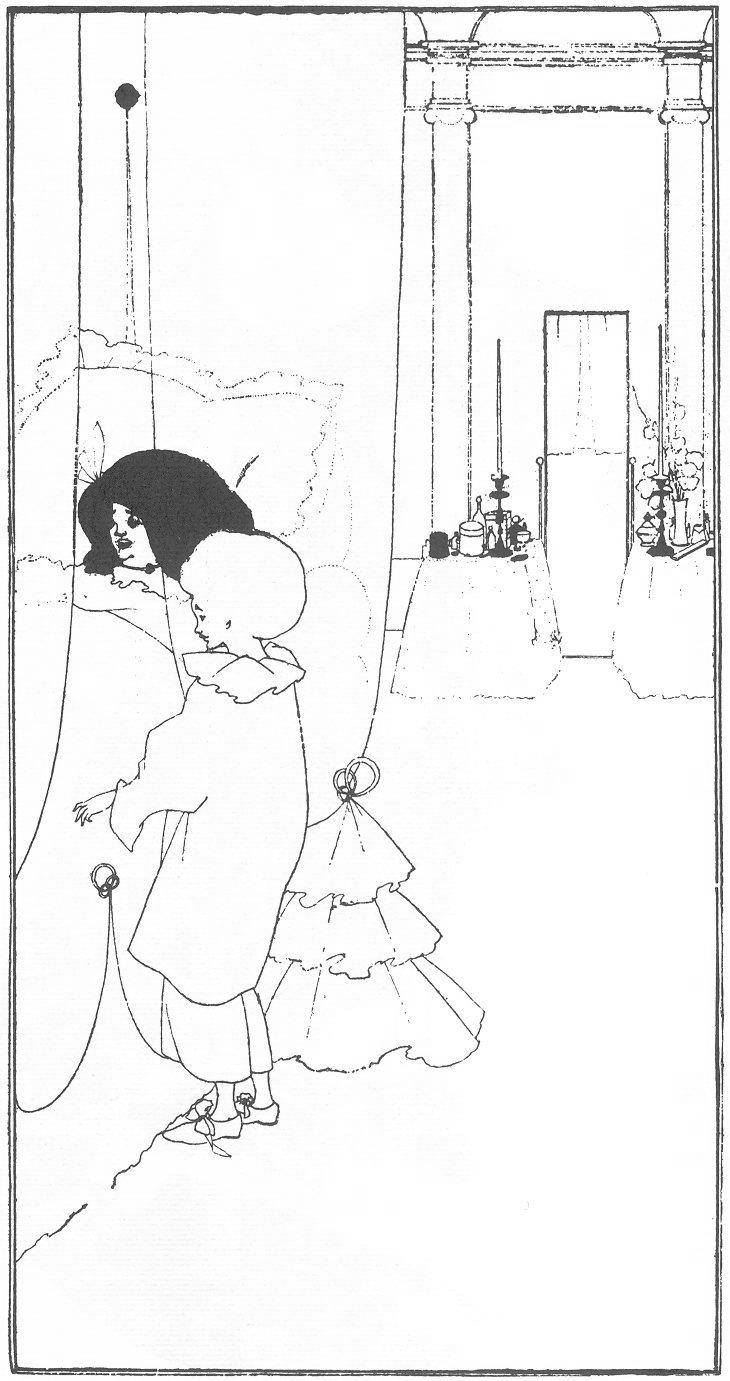 A Child at its Mother's Bed - Aubrey Beardsley