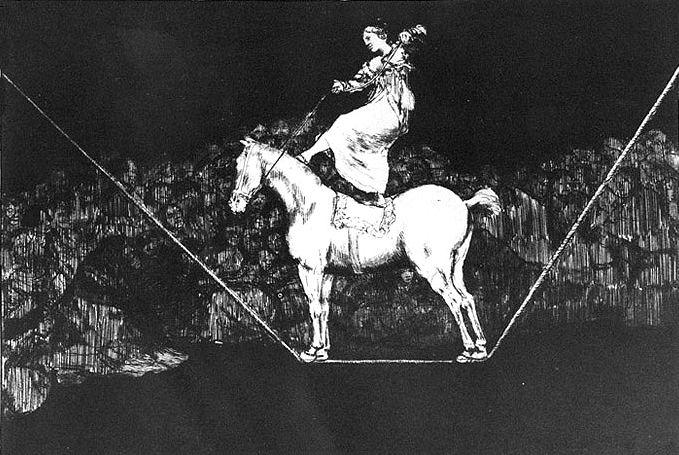 A circus queen timely Absurdity - Francisco Goya