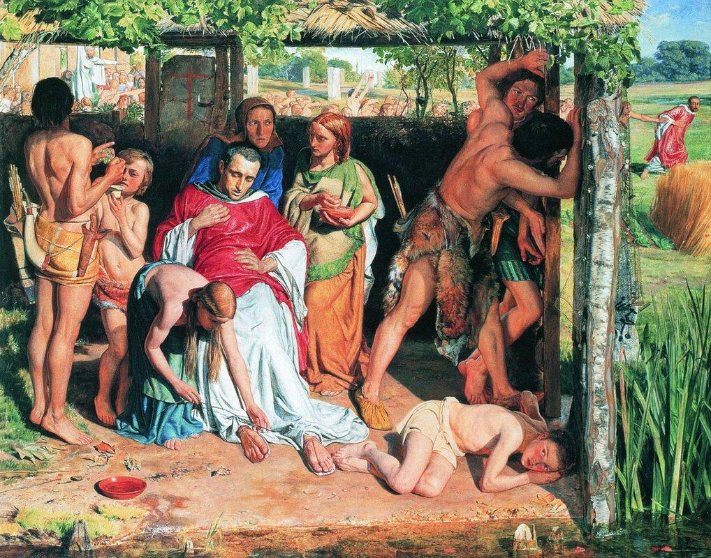 A Converted British Family Sheltering a Christian Priest from the Persecution of the Druids - William Holman Hunt