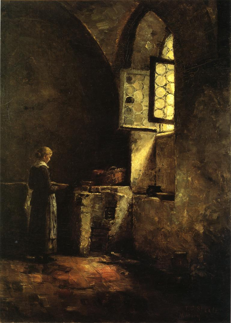 A Corner in the Old Kitchen of the Mittenheim Cloister - T. C. Steele