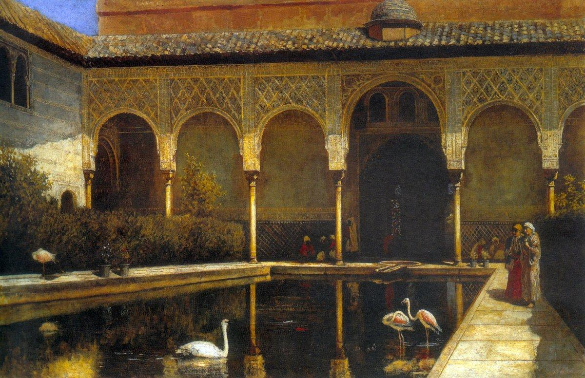 A Court in the Alhambra - Edwin Lord Weeks
