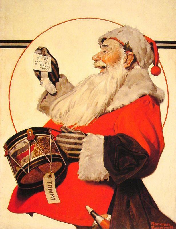 A Drum for Tommy - Norman Rockwell