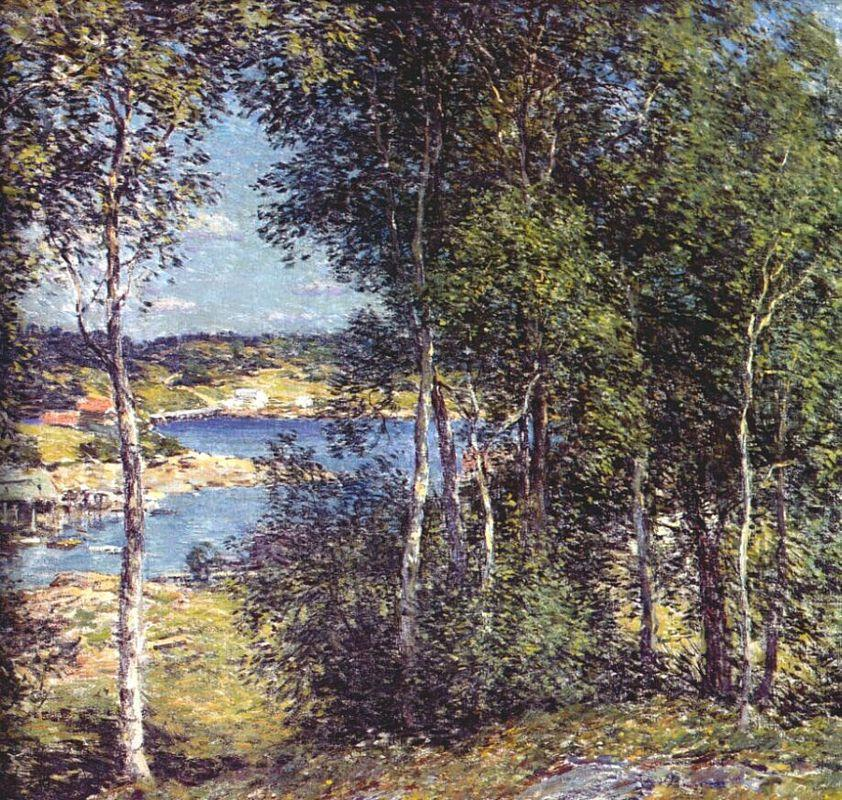 A Family of Birches - Willard Metcalf