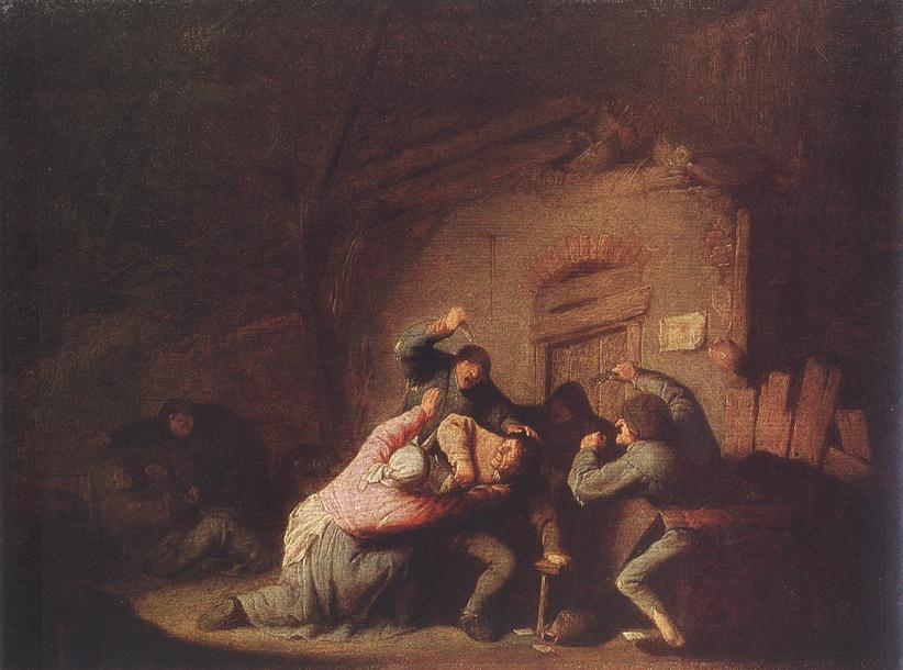 A Fight - Adriaen van Ostade