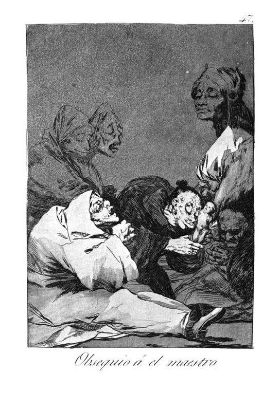 A Gift for the Master - Francisco Goya
