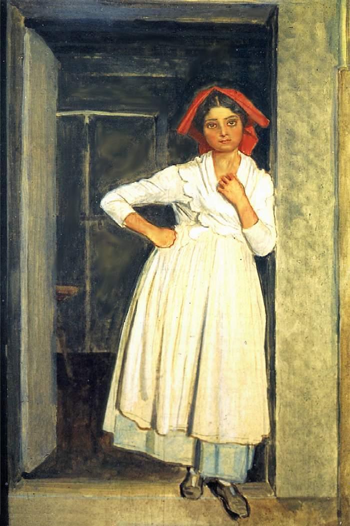 A girl from Albano standing in the doorway - Alexander Ivanov