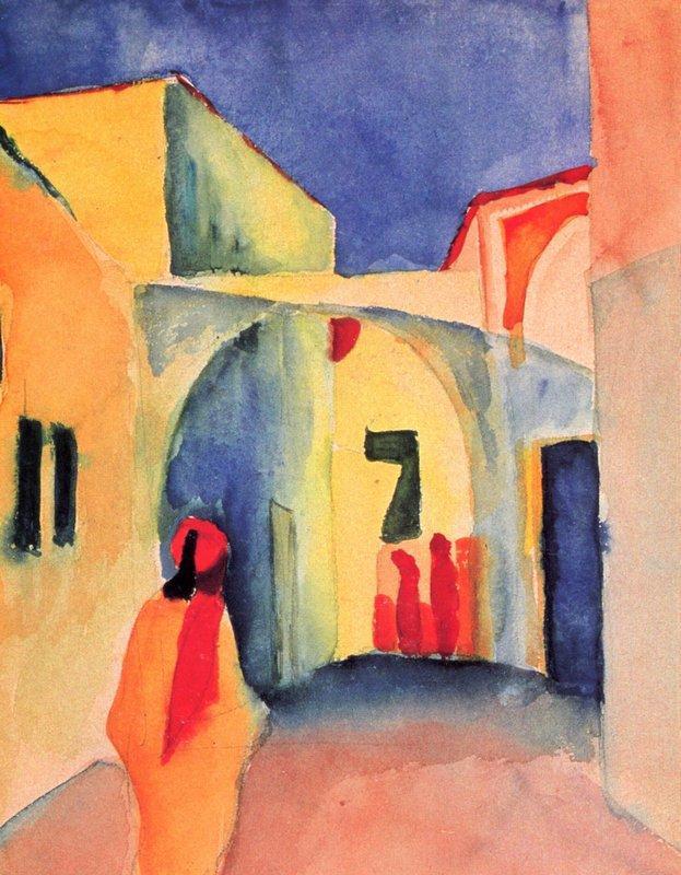 A Glance Down an Alley - August Macke