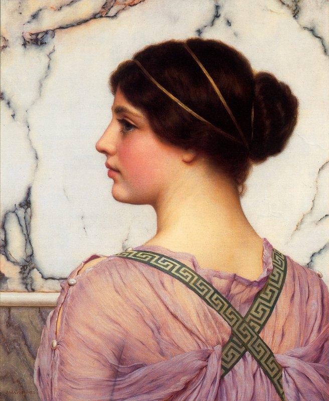 A Grecian Lovely - John William Godward