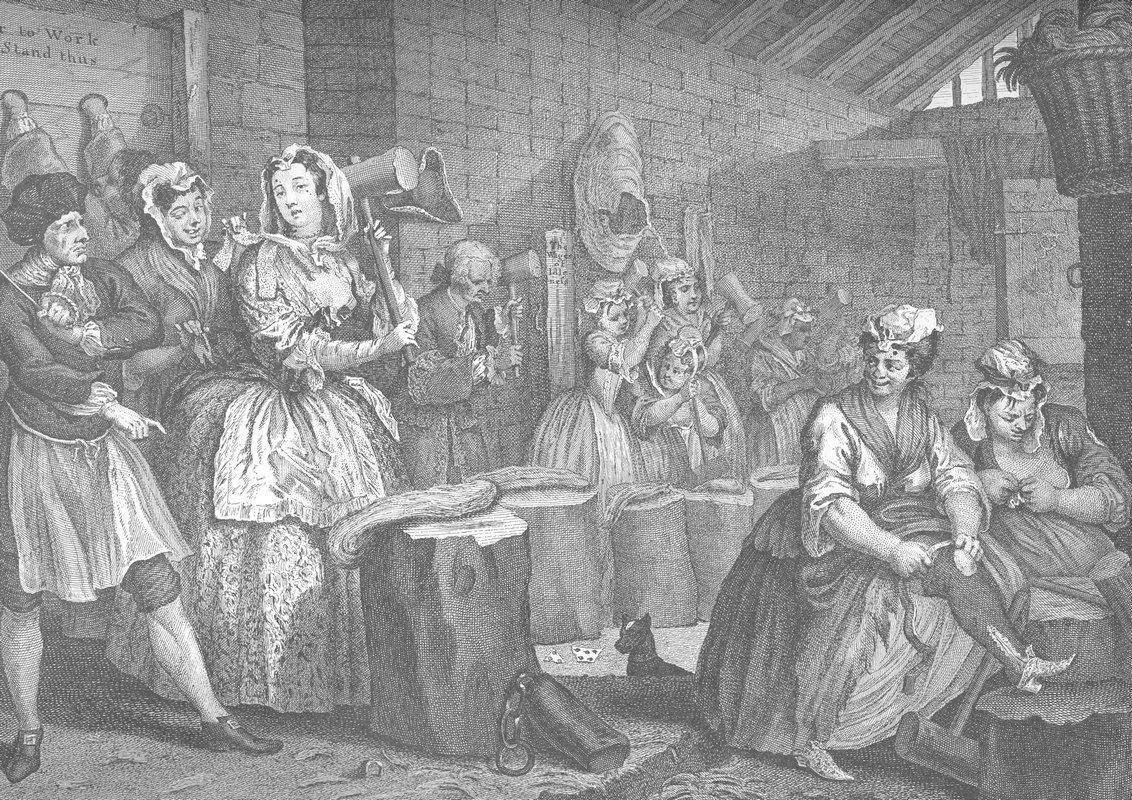 A Harlot's Progress, plate 4 - William Hogarth