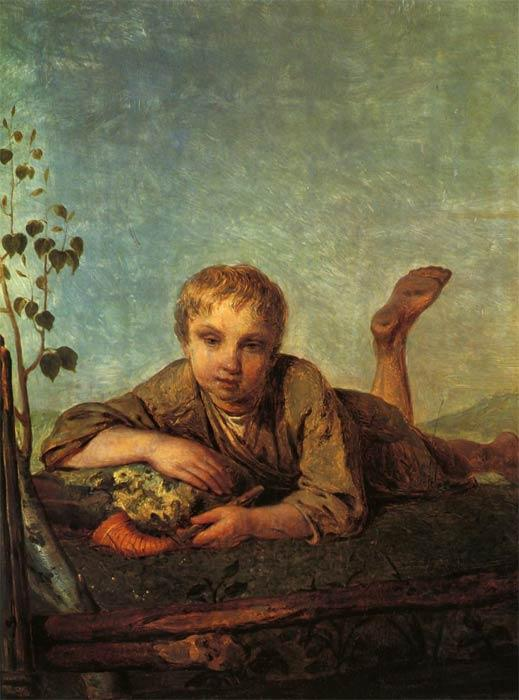 A Herd-Boy with a Pipe - Alexey Venetsianov