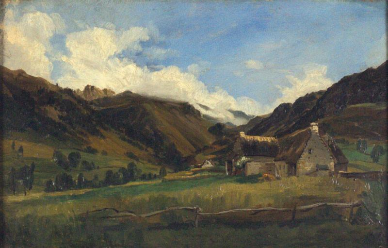 A Hilly Landscape in Auvergne - Theodore Rousseau