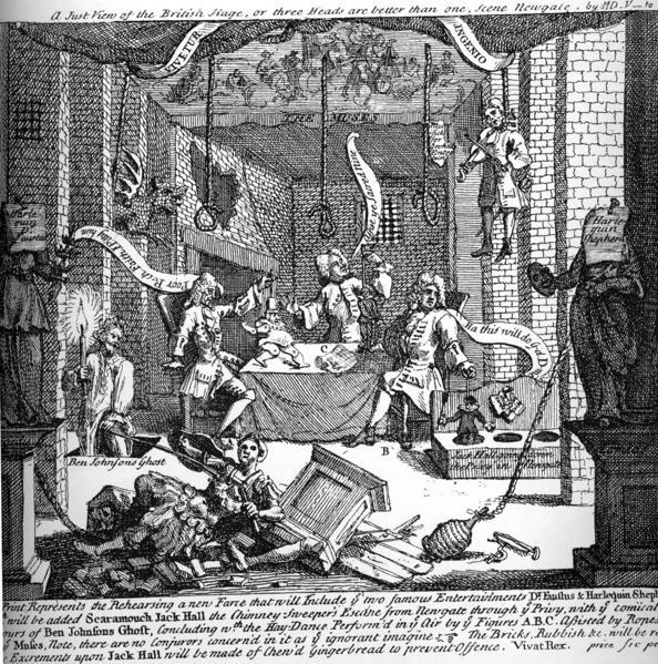 A Just View of the English Stage - William Hogarth