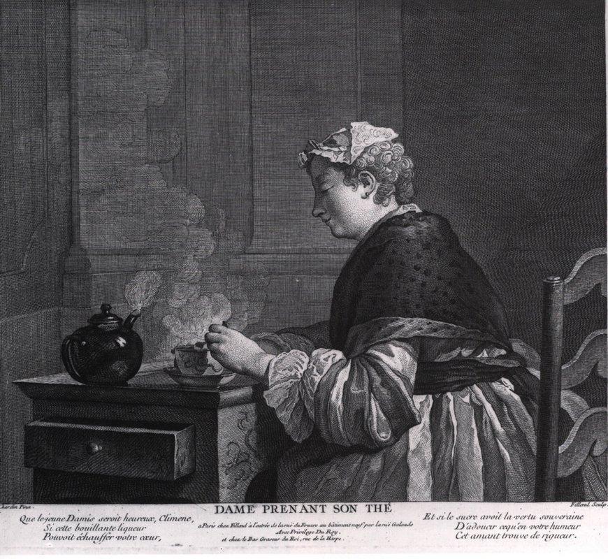 A lady who takes tea - Jean-Baptiste-Simeon Chardin