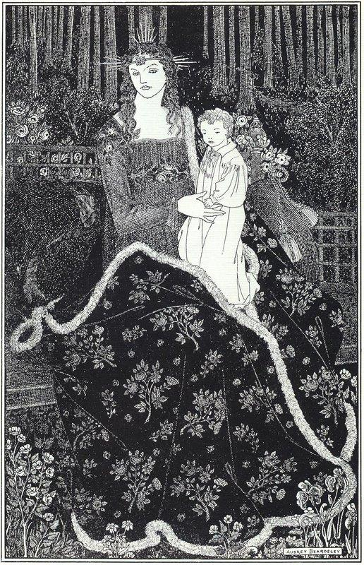 A large Christmas Card - Aubrey Beardsley