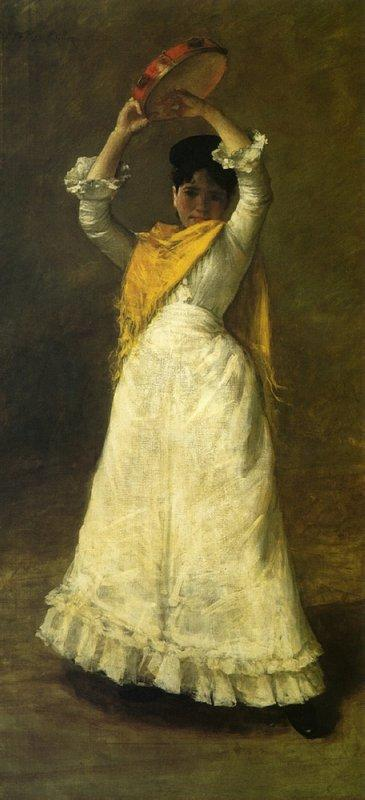 A Madrid Dancing Girl - William Merritt Chase