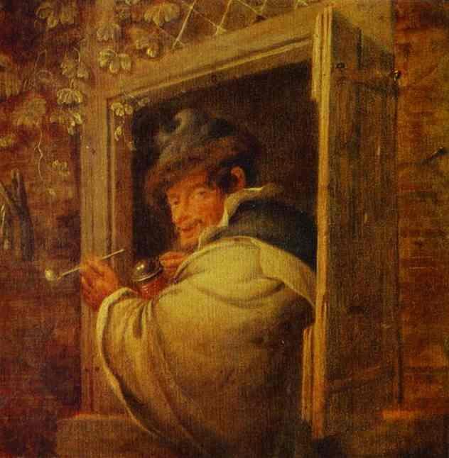 A Man in the Window - Adriaen van Ostade