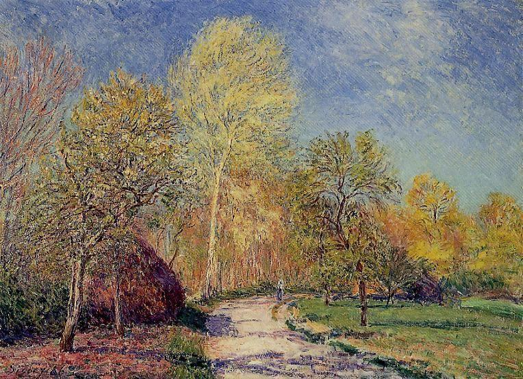 A May Morning in Moret - Alfred Sisley