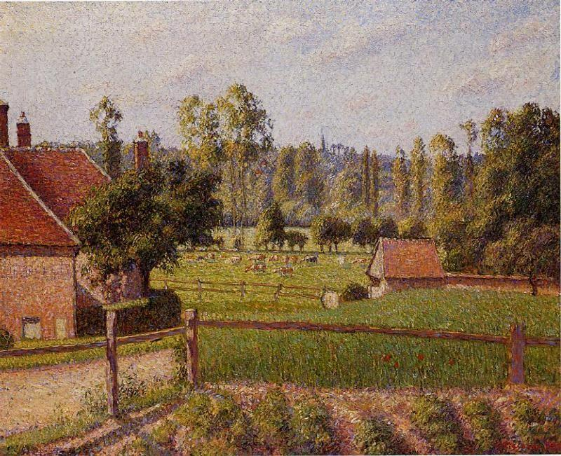 A Meadow in Eragny - Camille Pissarro