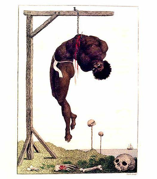 A Negro Hung Alive by the Ribs to a Gallows - William Blake
