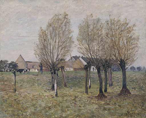 A Normandy Farm - Alfred Sisley