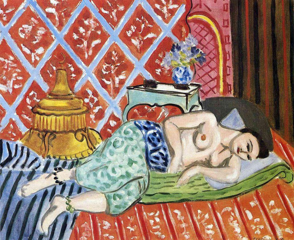 A Nude Lying on her Back - Henri Matisse