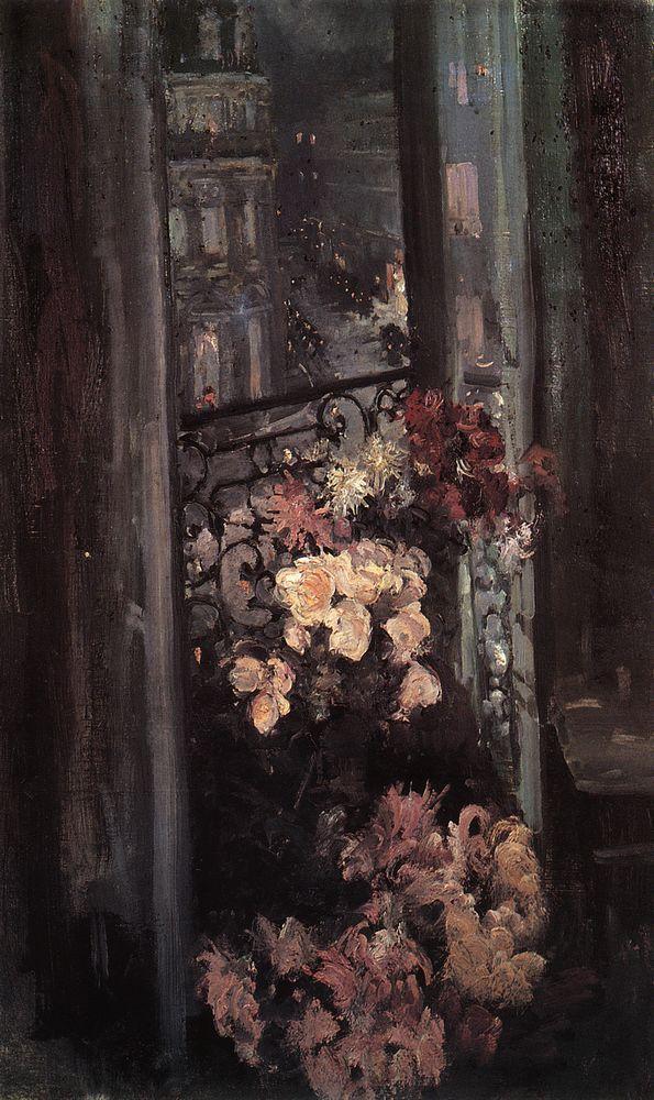 A Parisian Balcony - Konstantin Korovin