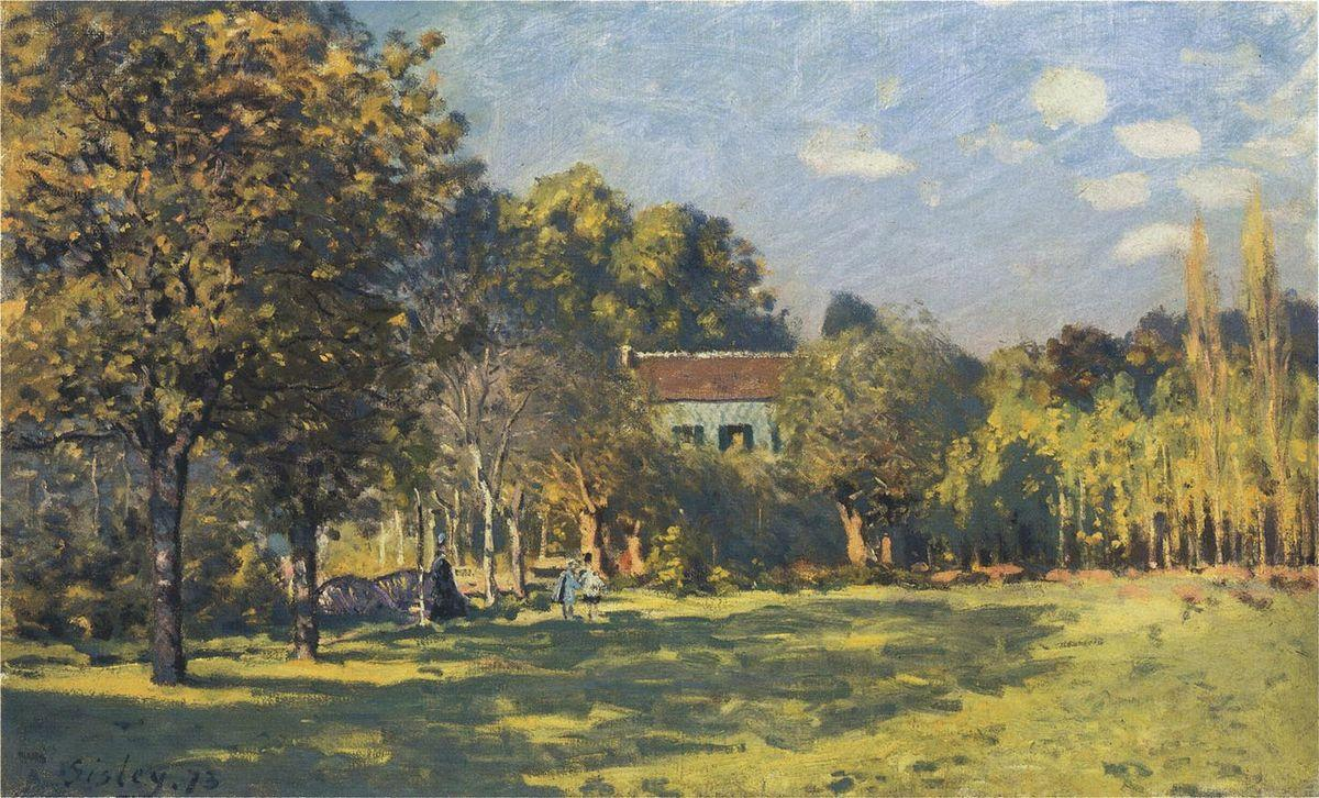 A Park in Louveciennes - Alfred Sisley