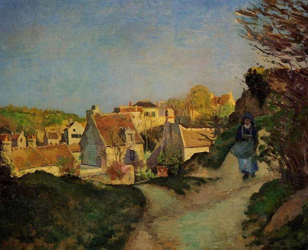A part of Jallais, Pontoise - Camille Pissarro