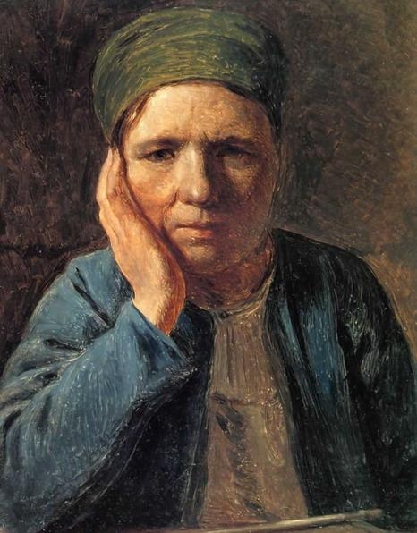 A Peasant Woman, Resting on Her Hand - Alexey Venetsianov