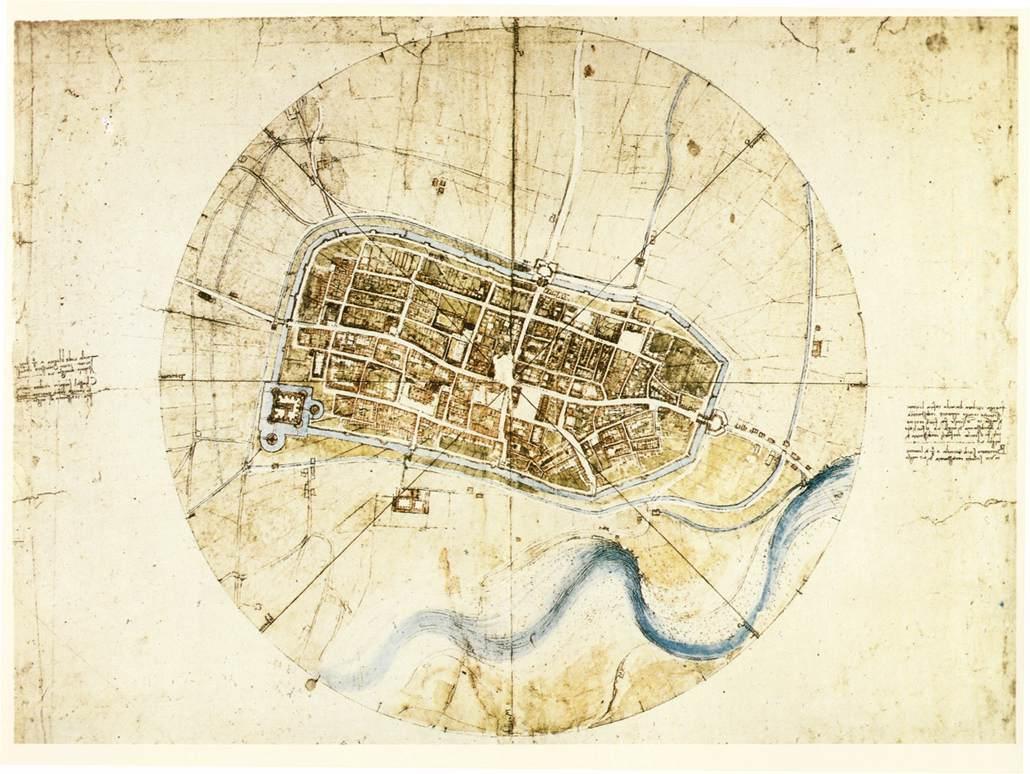 A plan of Imola - Leonardo da Vinci