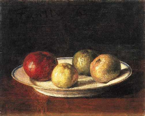 A Plate of Apples - Henri Fantin-Latour