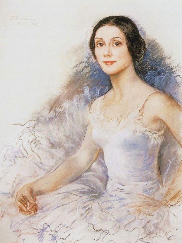 A portrait of Yvette Choviret - Zinaida Serebriakova