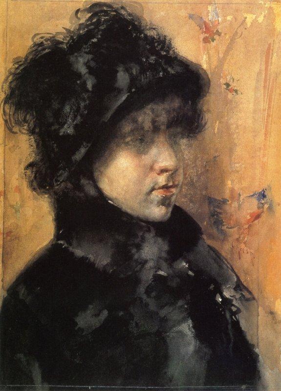 A Portrait Study - William Merritt Chase