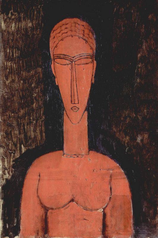 A red bust - Amedeo Modigliani