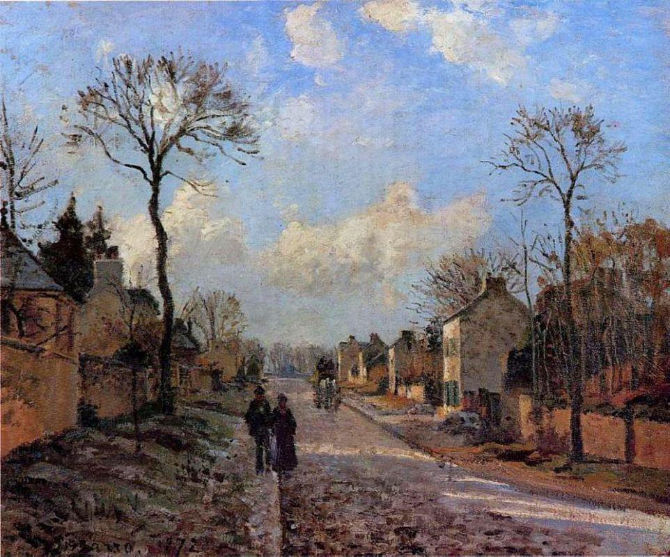A Road in Louveciennes - Camille Pissarro
