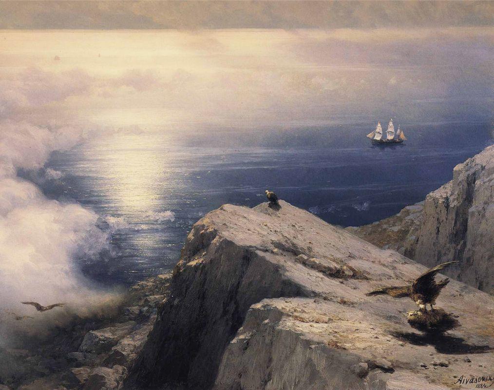 A Rocky Coastal Landscape in the Aegean - Ivan Aivazovsky
