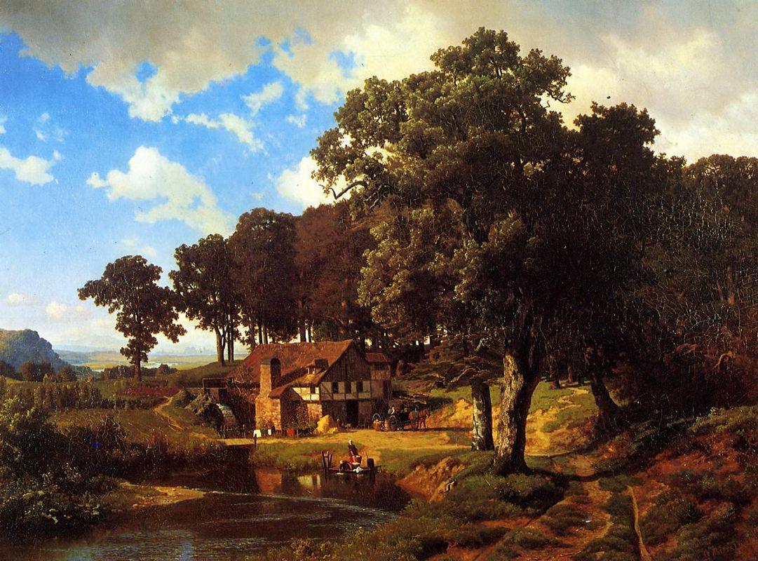 A Rustic Mill - Albert Bierstadt