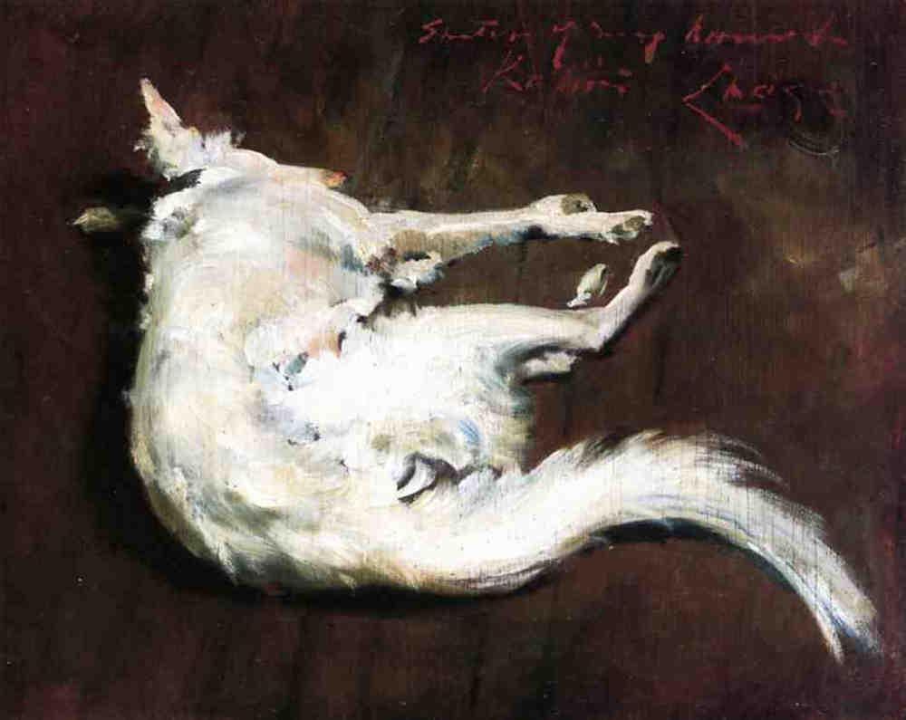 A Sketch of My Hound Kuttie - William Merritt Chase